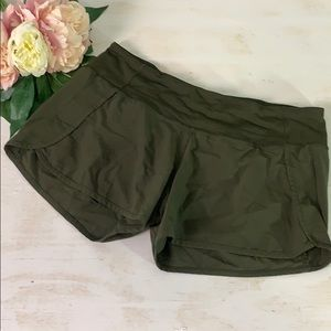 Lululemon Olive Green Speed Short Size 8